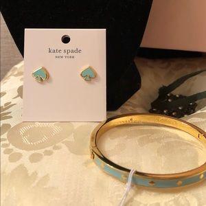 Kate Spade ♠️ Mint Bracelet & Earrings set